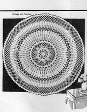 Vintage Crochet Luncheon Doily Set Pattern, Anne Cabot 5582