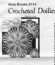 Star Doilies Crochet Pattern Mail Order 6114