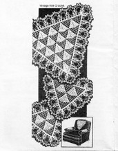 Crochet Triangle Buffet Set Pattern, Alice Brooks 7112