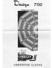 Round Diamond Crochet Cloth pattern, Mail order 7150