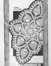 Vintage Oval Pineapple Doily pattern, Needlework Bureau 844