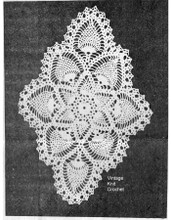 Scalloped Oval Pineapple Doily Pattern, Design 844
