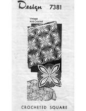 Crochet Geometric Square Pattern, Design 7381