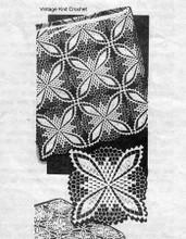 Crochet Bedspread Pattern, Square Blocks, Mail Order 7381