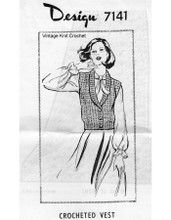 Mail Order Crochet Vest Pattern Design 7141