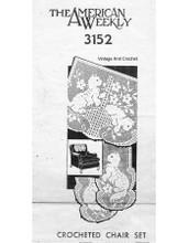 Filet Crochet Basket of kittens pattern, american weekly 3152