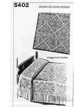 Crocheted Popcorn Bedspread Pattern, Mail Order 5402