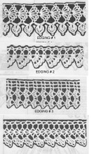 Four Crochet Edgings Pattern, Anne Cabot 5739