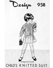 Girls Cable Jacket Knitting Pattern, Mail Order 958