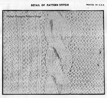 Knitted Cable Pattern Stitch Detail, Design 7246