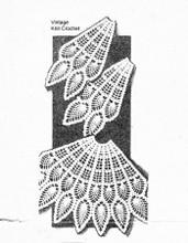 Alice Brooks 7653, Crochet Pineapple Fan Chair Set Pattern