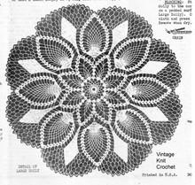Pineapple Flower Crochet Doilies Pattern, 9 sizes, Mail Order 809