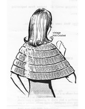Elbow length capelet knitting pattern, Anne Cabot 5564