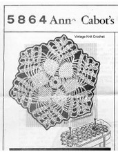 Crochet Flower Medallion Pattern, Anne Cabot 5864
