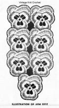 Crocheted Pansy Runner Pattern
