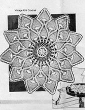 Pineapple Centerpiece Crochet Doily, Anne Cabot 5271