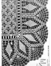 Crocheted picot tablecloth illustration for Alice brooks 7087