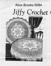 Vintage Round Star Crochet Cloth pattern Mail Order 6084