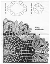 large tulip doily illustration for Mail Order 7204