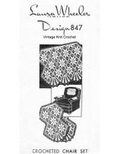 Vintage Crochet Chair Set Pattern, Laura Wheeler 847