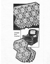 Crochet Flower Chair Set Pattern, Design 847
