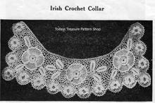 Irish Rose Crochet Collar Pattern