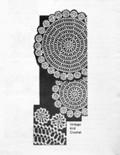 Mail Order Rickrack crocheted doily pattern, Mail Order 7238