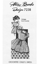 Girls Crochet Special Occasion Dress Pattern, Design 7238