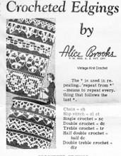 Mail Order Crochet Edgings Pattern, Design 7285
