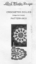 Leaf Doily Crochet Pattern, Small Large, Mail Order Design 803