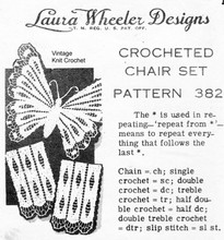 Vintage Crochet Butterfly Pattern, Mail Order 382