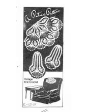 Vintage Pineapple Chair Doily Pattern, Ellen Bruce E-1281