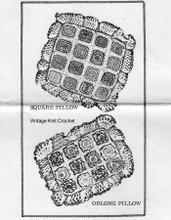 Crochet Pillows Pattern, Flower Squares, Laura Wheeler 745