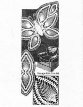 Vintage Crochet Butterfly Doily Pattern, Laura Wheeler 828