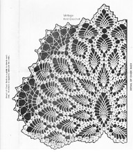 Pineapple Chair Back Pattern Illustration for Mail Order 3086