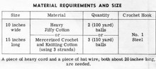 Crochet Parasol Basket Planter Pattern, Mail Order 7098