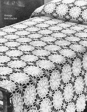 Vintage Round Medallion Crocheted Bedspread Pattern