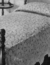 Crochet Star Bedspread Pattern No 651