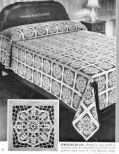 Vintage Crochet Bedspread Pattern, Serenade No 654