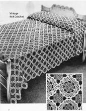 Crochet Flower Medallion Bedspread Pattern No 648