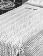 Vintage Lace Bedspread Knitting Pattern