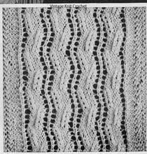 Lace bedspread knitting pattern illustration
