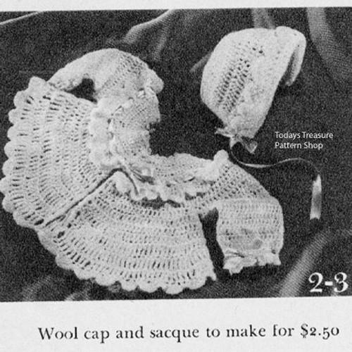 Ruffled Crochet Baby Jacket Pattern