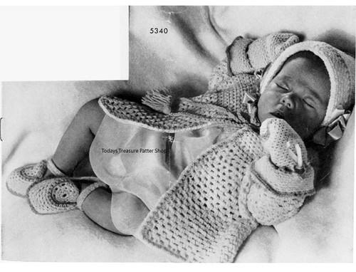 Warm Crochet Baby Set Pattern