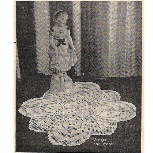 Filet Crochet Thistle Doily Pattern