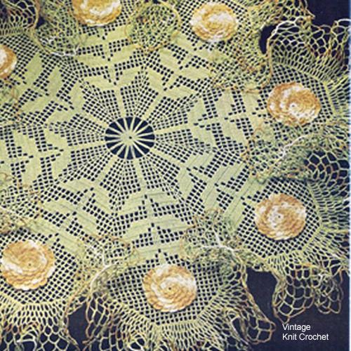 Filet Crocheted Zinnia Doily Pattern