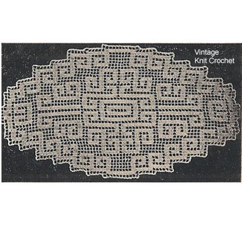 Workbasket Filet Crochet Bread Cloth Pattern