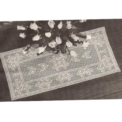 Star Filet Crocheted Runner Pattern