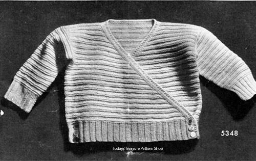 Vintage Baby Surplice Sweater Pattern