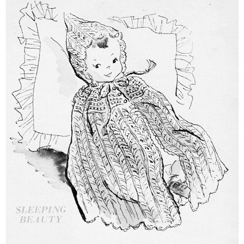 Knitting Pattern Vintage Baby Cape